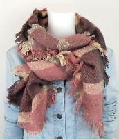 Ella Jonte Schal Winterschal rosa violett beige Trapez Damen Schal Damenschal