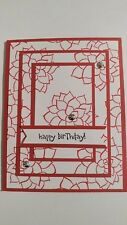 Handmade HAPPY BIRTHDAY card, uses Stampin Up Nature's Perfection, Real Red