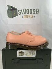 DR. MARTENS Doc AW004 Womens Pink Leather Low Size US 7 Shoes Cushion Sole Rare