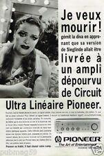 Publicité advertising 1993 Ampli Hi-Fi Pioneer