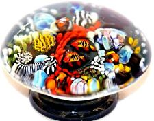 RARE Gorgeous MILON TOWNSEND Reef FISH Aquarium Pedestal Art Glass PAPERWEIGHT