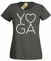 Womens Yoga LOVE T-Shirt Workout Gym Fitness ladies top gift