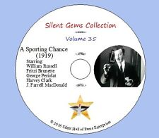 """DVD """"A Sporting Chance"""" (1919) Henry King, William Russell,Classic Silent Comedy"""