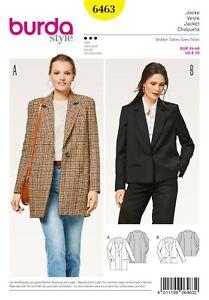 Burda Style Schnittmuster - Mantel & Jacke - Blazer - Nr. 6463
