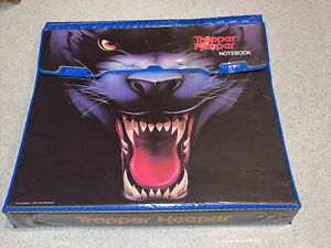 Vintage 1991 Mead Trapper Keeper Notebook Black Panther Cat