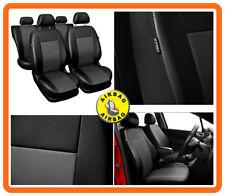 CAR SEAT COVERS full set fit Peugeot 206 Leatherette Black/Grey