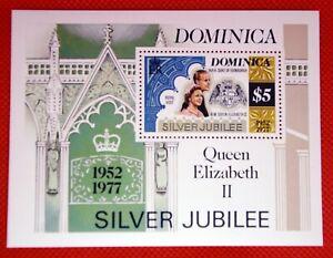 ZAYIX - 1977 Dominica 554 MNH - QEII Silver Jubilee souvenir sheet