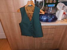 """Vtg Oldermark  Wool/Cashmere Blend  Green Adjustable  Waistcoat Size 42"""""""
