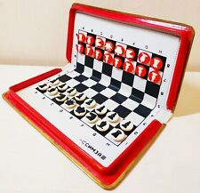 "USSR rare Soviet mini-road, pocket, magnetic chess ""Simza"" full set."