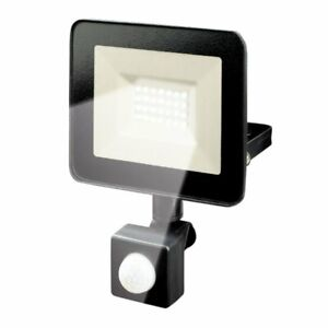 Projecteur LED exterieur 20w 1600 lumens IP44 6500K avec detecteur de mouvement