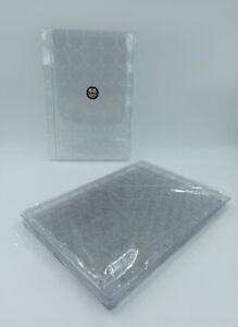 LOT 5 BOX PLAQUES INTERCALAIRES PLASTIQUE 40 CASES POUR CAPSULES / CLASSEUR A4