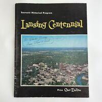 Vintage Program Book Lansing Centennial Michigan MI History Advertising 1959