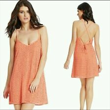 NWT GUESS BY MARCIANO ORANGE Allover rhinestone embellishment Irene Dress SIZE S