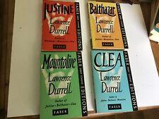 Lawrence Durrell 4 Paperback Novels - Clea, Mountolive, Justine,Balthazar