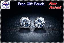 NEW Elegant Crystal Diamond Silver Ear Stud Earring Gift