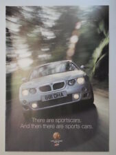 MG ZR 160 / ZS 180 / ZT 190 orig 2001 UK Mkt Sales Brochure