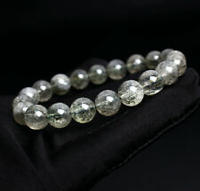 Rutilated Crystal Beads Bracelet Aaa 9.5mm Natural Green tourmaline Hair