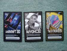 3 x Rewe Starzone Sammelkarte Nr. 13 Beyonce, Nr. 50 Laserkraft 3D, 86 Strokers