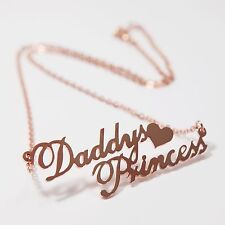 New Any Personalized Name Plate Jewelry Pendant Lovely Heart Necklace Couples