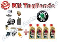 KIT TAGLIANDO OLIO CASTROL EDGE 5W30+FILTRI SKODA FABIA 1.4 TDI 75 CV (P5) AMF *