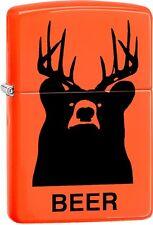 Zippo Beer Bear Deer Orange Matte Windproof Lighter 29343 ***NEW***