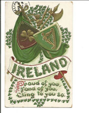 IRELAND PROUD OF YOU POSTCARD 1911 ST. PATRICK'S GREETING