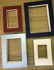 50 PICTURE FRAME MOUNTS 4 SIZES ASSORTED COLOURS ARTISTS PHOTOGRAPHERS PAINTERS