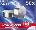50 x Wilhelm bulk AG13 / V13GA Knopfzelle LR44 | 165mAh 1,5V Alkaline 357 LR1154