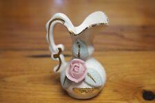 """Vintage """"Floral Satin"""" Pitcher Figurine / Toothpick holder – Enesco"""