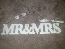 White Mr & Mrs Hanging Sign