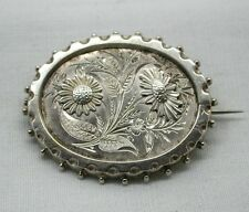 Lovely Victorian Silver Flower Brooch