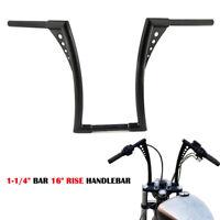 "Nior 1-1/4"" Guidon Handlebars 16"" Ape Hangers Bars Pour Harley Davidson Custom"