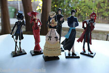 New High Quality 6pc Set Black Butler Kuroshitsuji Ciel Japan Action Figures