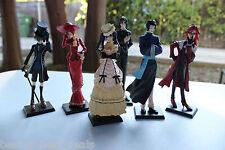 New High Quality 6pc Set Black Butler Kuroshitsuji Ciel Japan Action Figures