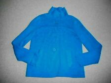 Womens Sweater/Jacket-TALBOTS-blue 100% cotton cardigan long sleeve-PP