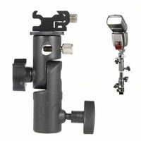 "Hot Shoe Mount Flash Bracket/Umbrella Holder F Canon Nikon 1/4"" Screw Speedlite"