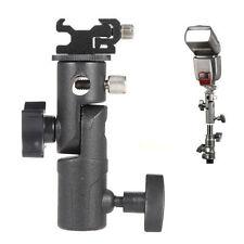 "Hot Shoe Mount Flash Bracket/Umbrella Holder F Canon Nikon 1/4"" Screw Speedlite"
