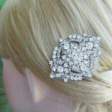 Luxury Clear Rhinestone Crystal Bridal Hair Comb Wedding Headpiece 03797C1