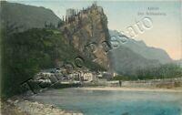 Cartolina di Arco, castello e fiume Sarca - Trento