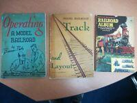 Vintage Model Railroad Book Lot