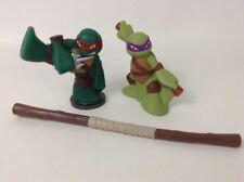 """Teenage Mutant Ninja Turtles 3.5"""" Donnie Raph 2pc Lot Toy Figure Playmates Toys"""