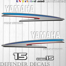 Yamaha 15 HP Four Stroke outboard engine decal sticker kit reproduction Printed