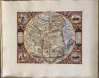 """China Regnum De Jode 1593 Hand Made Engraving, 14"""" x 17"""" 中国古地图"""