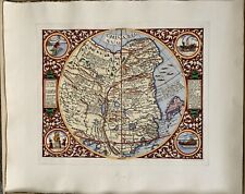 "China Regnum De Jode 1593 Hand Made Engraving, 14"" x 17"" Printed Area"