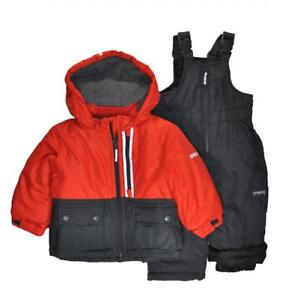 Osh Kosh B'gosh Infant Boys Red & Dark Grey Snowsuit Size 12M 18M 24M