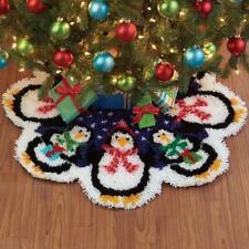 Herrschners® Christmas Penguins Tree Skirt Latch Hook Kit