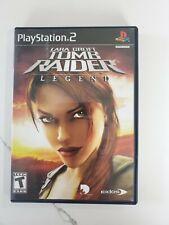 Lara Croft: Tomb Raider Legend Tested Black Label PS2 Playstation 2 Free Shippin
