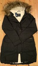 NWT ABERCROMBIE FITCH By Hollister WOMENS SHERPA-LINED PARKA JACKET Black