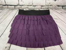 Anthropologie Floreat Juniors Size Large Purple Ruffled Skirt LKNW