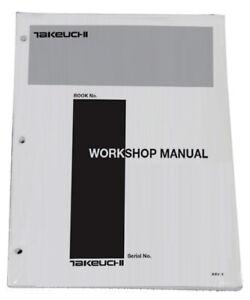 Takeuchi TB180 FR Hydraulic Excavator Workshop Service Repair Shop Manual